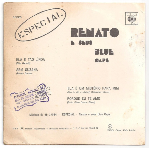 renato e seus blue caps-compacto-especial-vinil-lp