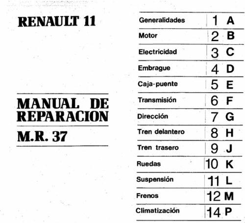 renaul 11 + manual de despiece completo envio x mail