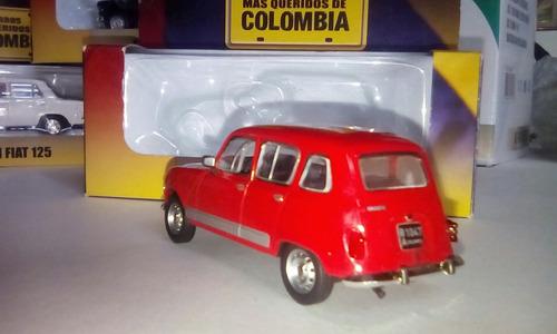 renault 4 escala 1/43 los mas queridos de colombia