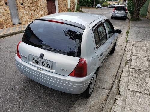 renault clio rn 1.0 4 portas pneus novos laudo aprovado