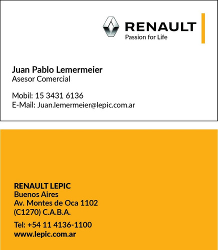 renault duster 1.6 4x2 privilege tasa 0% tomo usado cuota jl