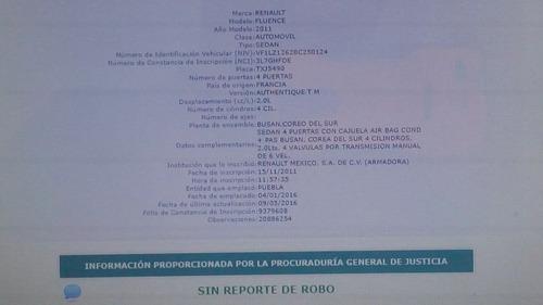 renault fluence 2011 estandar, oferta!!