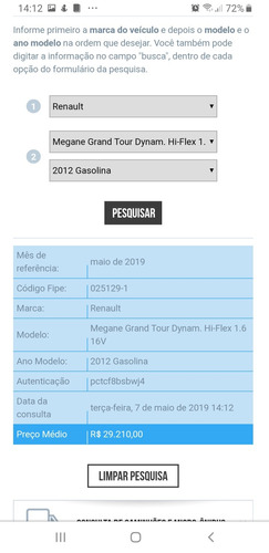 renault grand tour dynamic 1.6 ano 2012