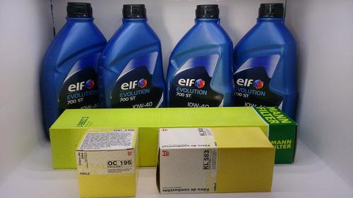 renault logan clio 1.0 16v óleo elf 10w40 + filtros