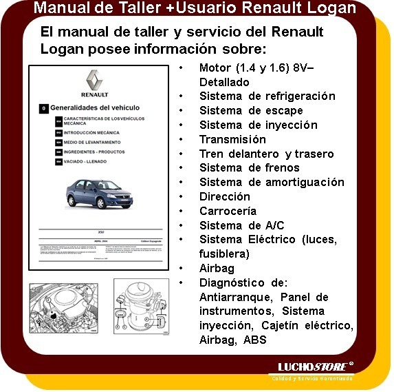 renault logan manual taller reparacion diagnostico de fallas 119 rh articulo mercadolibre com ar manual del usuario renault logan 2010 manual del usuario renault logan 2013