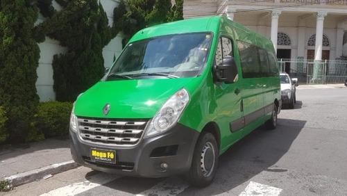 renault master 2.3 16v minibus 14l  2017 verde completo