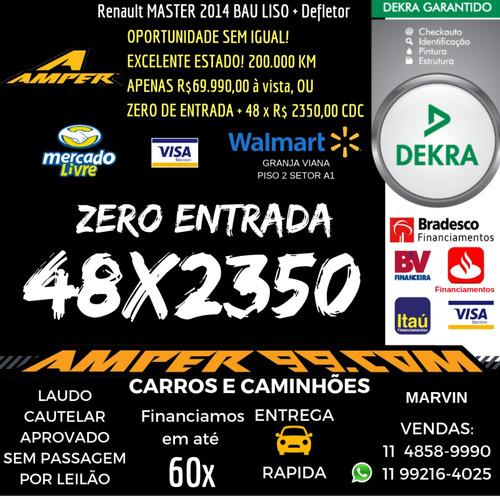 renault master 2.3 dci chassi 16v 2014 - bau liso + defletor