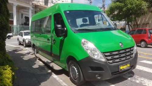 renault master  2.3 minibus  escolar 25l 2017 verde completo