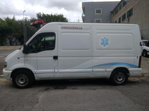 renault master 2.5 dci furgão ambulância, fiat ducato,