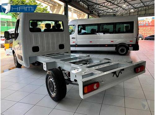 renault master l2h1 chassi cabine branco 2020