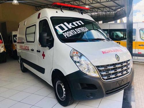 renault master l2h2 ambulancia uti branco 2020
