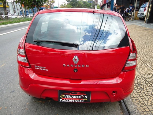 renault sandero 1.0 authentique 16v flex 4p manual - sem ar!