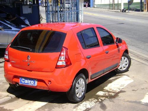 renault sandero 1.0  expression hi-flex 5p completo vermelho