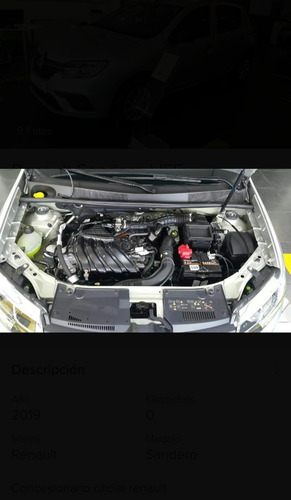 renault sandero 1.6 life tasa 0% tomo usado auto ford che jl