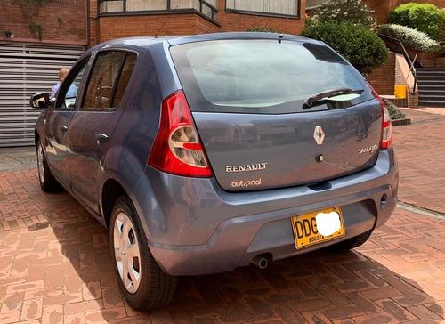 renault sandero 2010, 70000km, azul metalizado