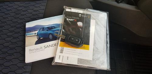 renault sandero 2018 1.0 3 ci flex completo mídia 17.000 km