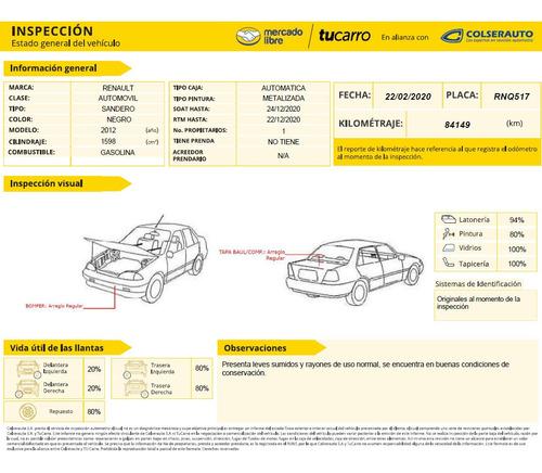 renault  sandero at 1600cc automatico full