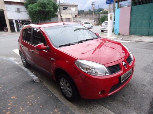 renault sandero expression 1.0 2011 vermelho