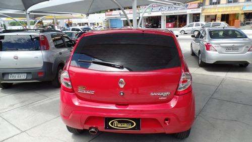 renault sandero expression 2010/2010 1.0 completo vermelho