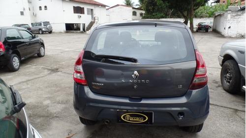 renault sandero expression 2011/2012 1.6 completo cinza