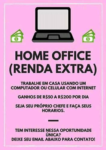 renda extra pelo celular home officce