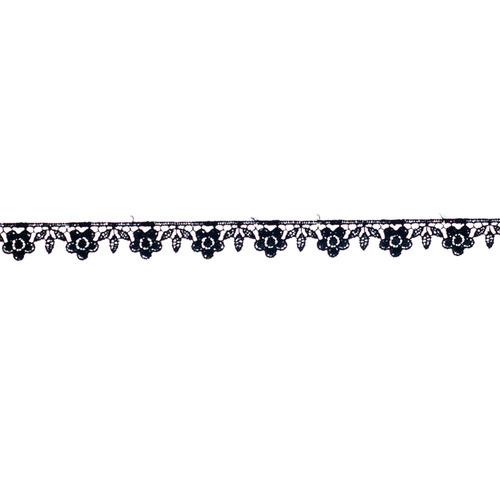 renda guipire gp016 c/13,70 metros c/ 1,6cm cor 016 preto