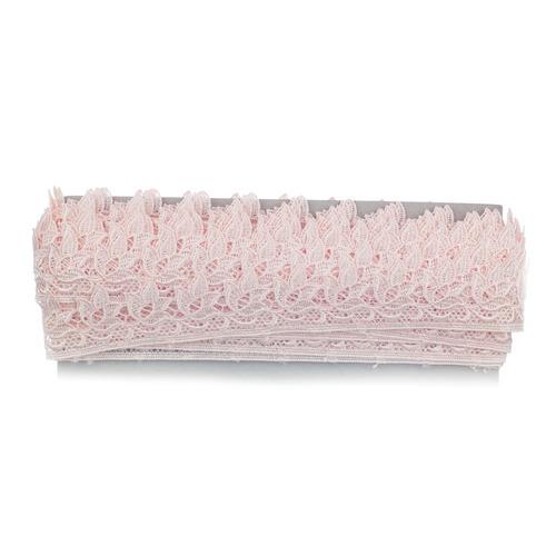 renda guipire gp017 c/13,7 metros c/4cm cor 067 rosa pastel
