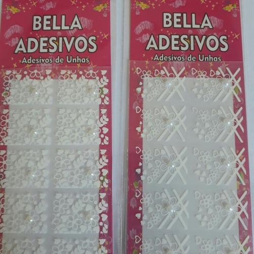 rendas brancas com perolas bella adesivos
