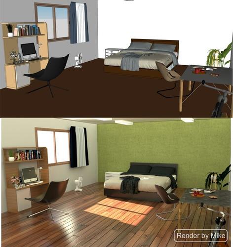 render interior exterior para arquitectura e industria