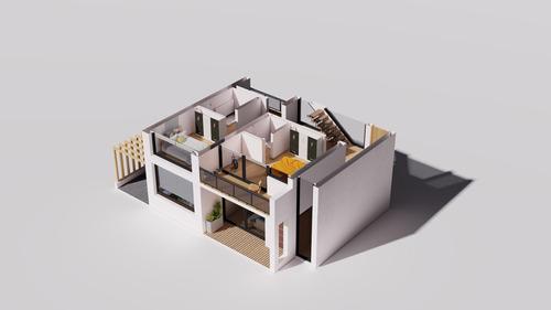renders arquitectura - int/ext - cartel de obra - modelado3d