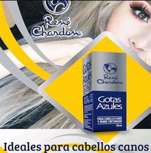 rene chardon. gotas azules. ideal cabellos canos y rubios