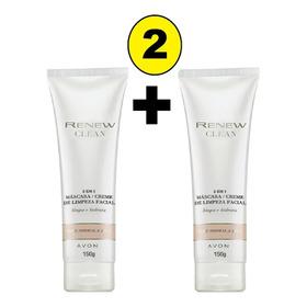 Renew Máscara Creme De Limpeza Facial 2 Em 1 Limpa E Hidrata