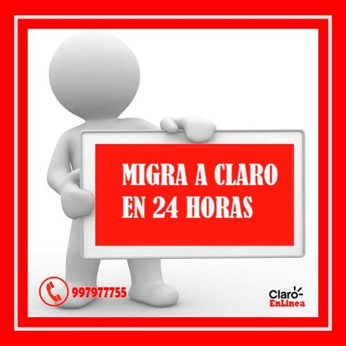 renovacion claro y porta a claro en 24 horas delivery gratis