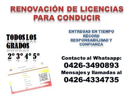 renovación de licencias para conducir