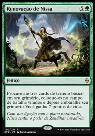 renovação de nissa / nissa's renewal - battle for zendikar