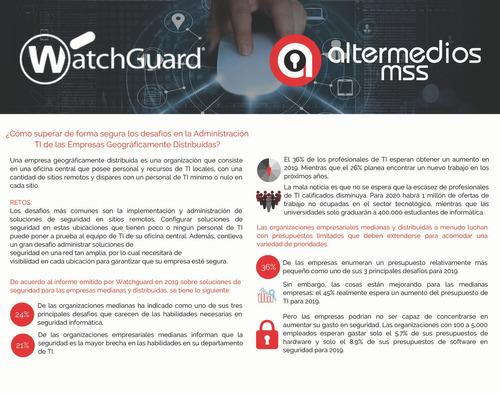 renovar firewall watchguard xtm 515 - xtm 525 - xtm 535