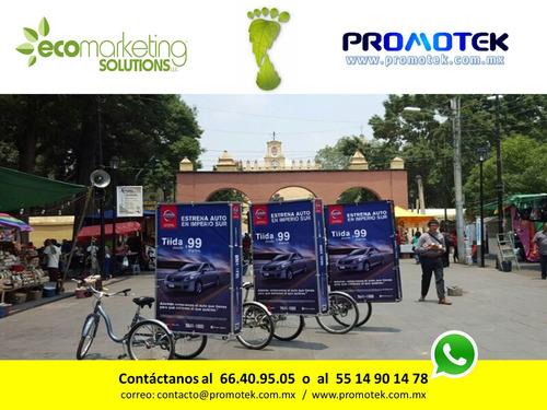 renta bicicleta publicitaria publicidad en bicicleta cdmx df