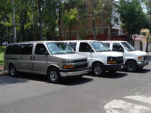 renta camioneta 7 a15 pasajeros dia voyaguer odyssey exprees