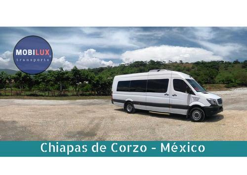 renta camioneta con chofer df cdmx de 13 a 20 pasajeros
