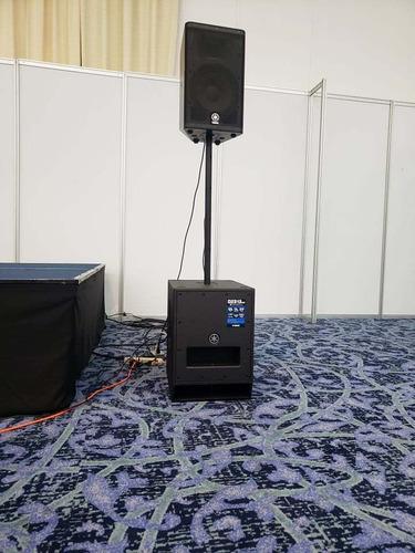 renta de audio conferencias, politicas, coctails minimalista