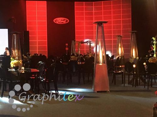 renta de calentadores piramide y salas lounge para eventos