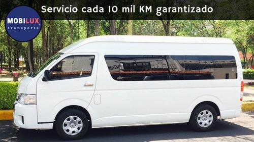 renta de camionetas con chofer de 7 a 20 pasajeros df / cdmx