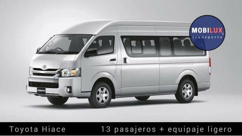 renta de camionetas con chofer para 13 y 20 pasajeros