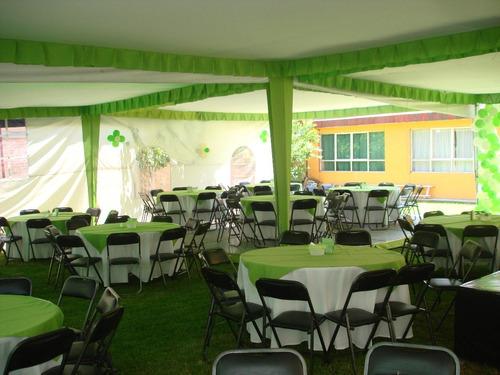 renta de carpas, sillas, mesas, juegos inflables, banquetes