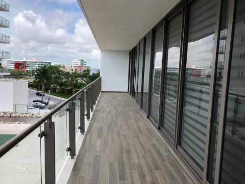 renta de departamento en be towers puerto cancún con 3r,  3b