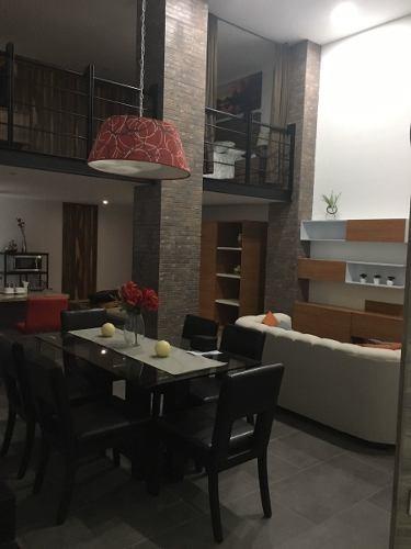 renta de departamento penthouse amueblado  en lomas 4a torre vista real