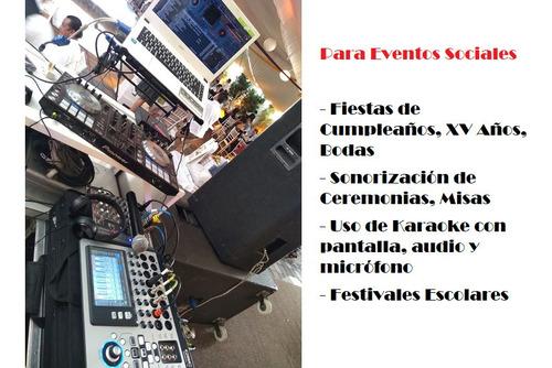 renta de equipo audiovisual para todo tipo de eventos