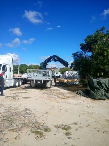 renta de grúa hiab articulada de 12 ton
