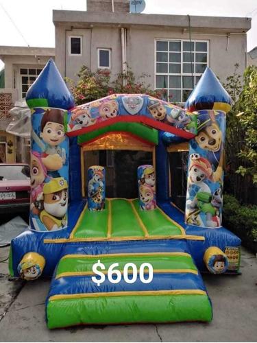 renta de inflables y brincolines blancas