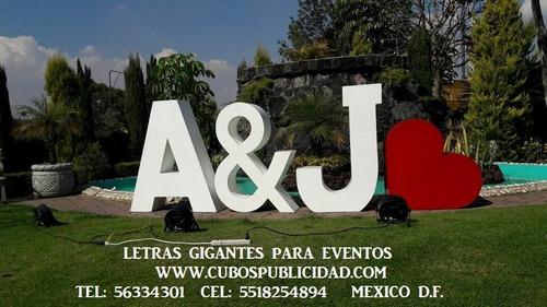 renta de letras gigantes para eventos,iluminadas,mesa novios